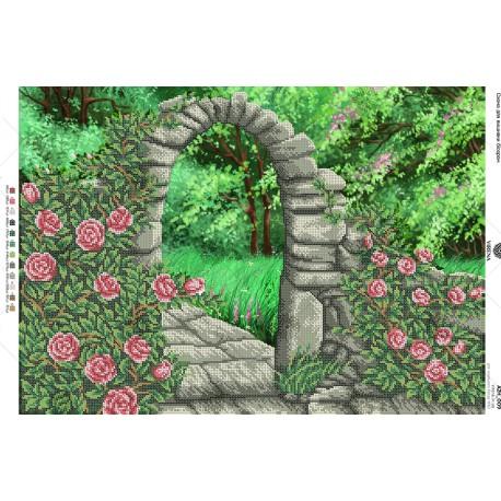 """""""Arka w ogrodzie"""", Zestaw do haftowania koralikami"""