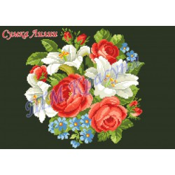 """Zestaw do haftowania torebki """"Lilie i róże"""""""
