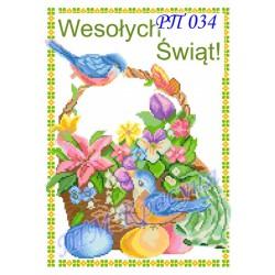 Zestaw do haftowania serwety wielkanocnej Art.PR-034