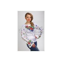 Zestaw do haftowania bluzki damskiej Art.036 biała