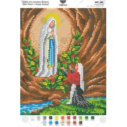 """""""Matka Boska z Lourdes"""" Zestaw do haftowania koralikami"""