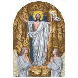 """""""Jezus Zmartwychwstał"""" Zestaw do haftowania koralikami"""