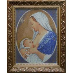 """""""Maryja z Dzieciątkiem"""", Zestaw do haftowania koralikami"""