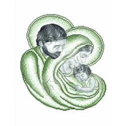 """""""Swięta Rodzina"""", Płótno z nadrukiem do haftowania, Art. CCc"""