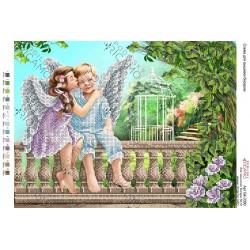 """Para aniołków"""", Zestaw do haftowania koralikami"""