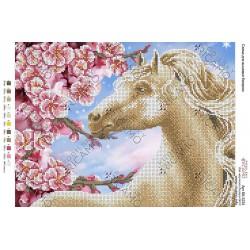 """""""Koń"""", Zestaw do haftowania, 27cm.x 36cm."""