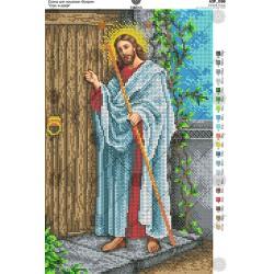 """""""Jezus u drzwi"""" Zestaw do haftowania koralikami Art. A3 088"""