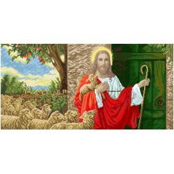 """""""Jezus u drzwi"""" Zestaw do haftowania koralikami"""