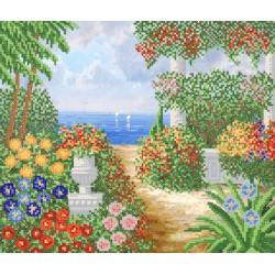 """""""Piękny ogród"""", Zestaw do haftowania koralikami"""