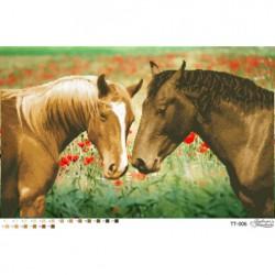 """""""Konie"""", Zestaw do haftowania koralikami Art. ТT 006"""