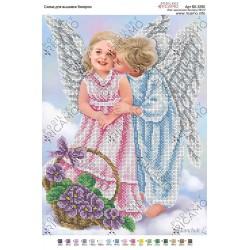 """""""Aniołki chłopiec i dziewczynka"""", Zestaw do haftowania koralikami"""