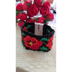 """Bransoletka """"Czerwone kwiaty"""""""