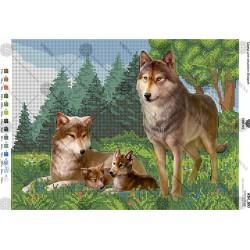 """""""Rodzina wilków"""" Art. A3 160"""