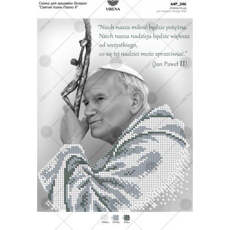 """""""Papież Jan Paweł II"""" Zestaw do haftowania koralikami"""