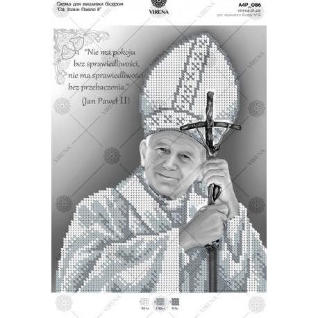 """""""Papież Jan Paweł II"""", Zestaw do haftowania koralikami"""